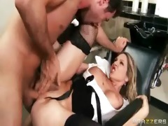 hardcore sex tape with breasty concupiscent bitch