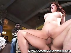charming wife have a fun large schlong poking