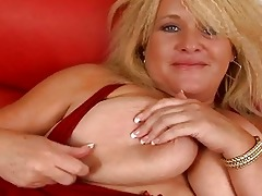 massive blond momma with massive bosom