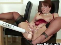 aged british doxy fetish machine fuck