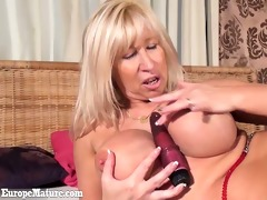 older lustful granny with large wobblers