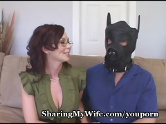 sexy wife shows hubby how he is should fuck