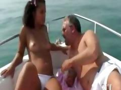 francesca tromba con papa, italian