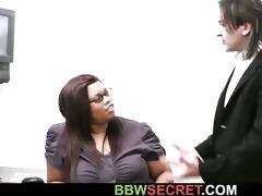 married boss seduces his chunky swarthy secretary