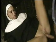 sexually excited nun gives in to temptation