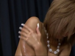 oiled up blonde pervert riku hinano fur pie