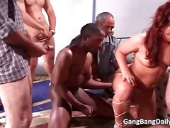 divorced chubby mama gets gang team-fucked part0