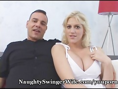 breasty golden-haired gangbanged by buddy