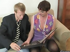 her shaggy old wet crack receives screwed by