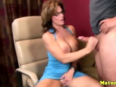 lascivious breasty older tugjob mother i jerking