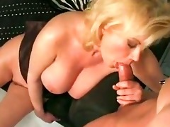 breasty blond mama carolyn monroe enjoys a strong