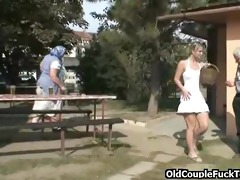 outdoor drinking and three-some