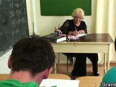 older teacher is fucked by lewd guys