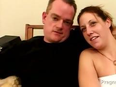 dilettante copulates his preggy wife