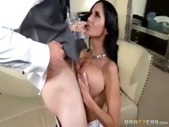 hardcore sex tape with breasty horny bitch mama