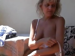 naughty mature granny masturbating with toy