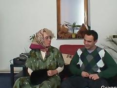 grandma pleases an youthful chap