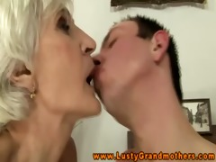 non-professional aged granny gets ravaged