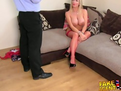 fakeagentuk greatly hawt golden-haired milf t