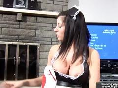 maid on duty footjob service