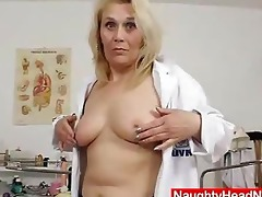 blonde curvicious older nurse