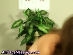 massage client sweetheart oiled up