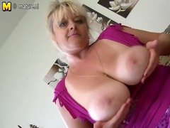 bug breasted aged doxy mom getting soaked