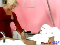 mother i receives golden shower at the hospital