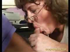 eager old mom acquires large dick